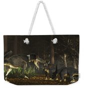 Daspletosaurus Confronts A Family Weekender Tote Bag