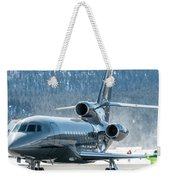 Dassault Falcon 900 Parking With Marshaller Weekender Tote Bag