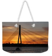 Daugava Sunset. Riga. Latvia Weekender Tote Bag