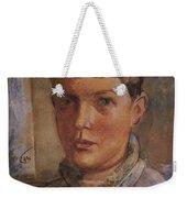 Daughter Of The Artist 1933 Kuzma Sergeevich Petrov-vodkin Weekender Tote Bag