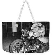 Dave On A Harley Tulare Raiders Mc Hollister Calif. July 4 1947 Weekender Tote Bag