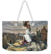 David And Goliath Weekender Tote Bag
