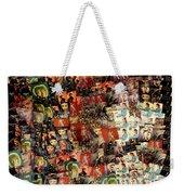 David Bowie Collage Mosaic Weekender Tote Bag