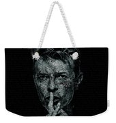 David Bowie Text Portrait - Typographic Poster With Album Titles And Background With Songs Names Weekender Tote Bag