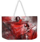 David Lee Roth And Eddie Van Halen Jump Weekender Tote Bag