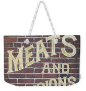 David Mann - Meats And Provisions Weekender Tote Bag
