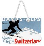 Davos, Alps, Mountains, Switzerland, Winter, Ski, Sport Weekender Tote Bag