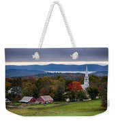 dawn arrives at sleepy Peacham Vermont Weekender Tote Bag