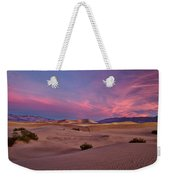 Dawn At Mesquite Flats #2 - Death Valley Weekender Tote Bag