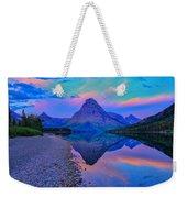 Dawn At Two Medicine Lake Weekender Tote Bag