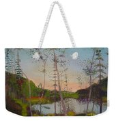 Dawn By The Pond Weekender Tote Bag