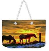 Dawn Horses Weekender Tote Bag