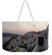 Dawn In Oia Santorini Greece Weekender Tote Bag