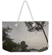 Dawn Moon Over Chinese Garden Singapore Weekender Tote Bag