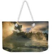 Dawn On Castle Geyser Weekender Tote Bag