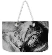 Dawn's A Coming Open Your Eyes - Lions Weekender Tote Bag
