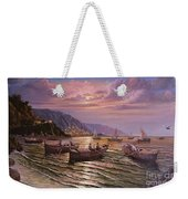 Day Ends On The Amalfi Coast Weekender Tote Bag by Rosario Piazza