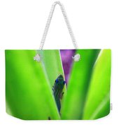 Day Gecko And Pineapple Plant Weekender Tote Bag
