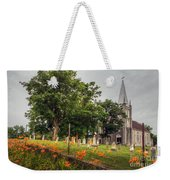 Day Lilies By A Church  Weekender Tote Bag