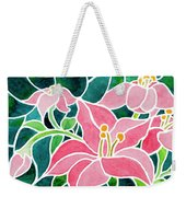 Day Lilies In Stained Glass Weekender Tote Bag