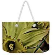 Day Lily In Yellow Weekender Tote Bag