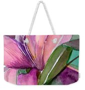 Day Lily Pink Weekender Tote Bag