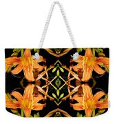 Day Lily Square Dance Weekender Tote Bag