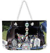 Day Of The Dead Classic Car Trunk Display  Weekender Tote Bag