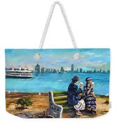 Day Off At The Island Weekender Tote Bag