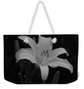 Daylily In Black And White Weekender Tote Bag