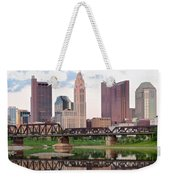 Daytime View Of Columbus Over The Scioto Weekender Tote Bag