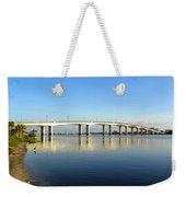 Daytona Beach's Broadway Bridge  Weekender Tote Bag
