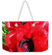 Dazzling Red Poppies Weekender Tote Bag