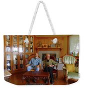 Db6362 Ed Cooper With Fred Beckey In Library 2013 Weekender Tote Bag