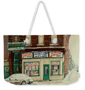 De Bullion Street In  Winter Montreal Weekender Tote Bag