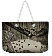 Dead Mans Hand Black And White Weekender Tote Bag