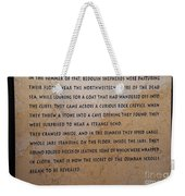 Dead Sea Scroll Document Weekender Tote Bag