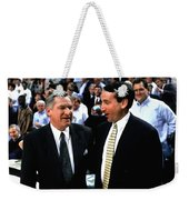 Dean Smith And Mike Krzyzewski Weekender Tote Bag
