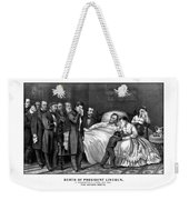 Death Of President Lincoln Weekender Tote Bag