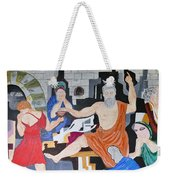 Death Of Socrates Weekender Tote Bag