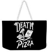 Death Pizza Weekender Tote Bag