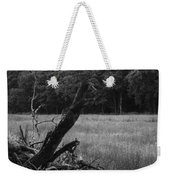 Debris Black And White Weekender Tote Bag