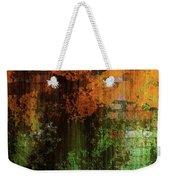 Decadent Urban Brick Green Orange Grunge Abstract Weekender Tote Bag