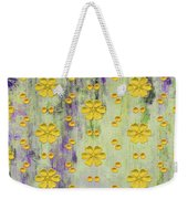 Decadent Urban Bright Yellow Patterned Purple Abstract Design Weekender Tote Bag