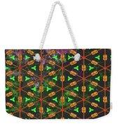 Decadent Urban Orange Green Patterned Abstract Design Weekender Tote Bag