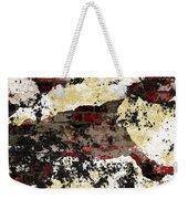 Decadent Urban Red Bricks Painted Grunge Abstract Weekender Tote Bag