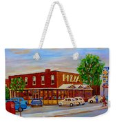 Decarie  Tasty  Food  Pizza Weekender Tote Bag