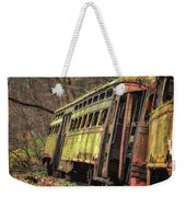 Decaying Trolley Cars Weekender Tote Bag
