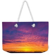 December Nebraska Sunset 004 Weekender Tote Bag
