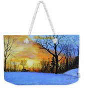 December Sunset Weekender Tote Bag